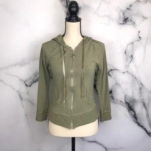 🦋VICTORIAS SECRET🦋 green zip hoodie sweatshirt